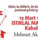 12 Mart 1921 İstiklal Marşı'nın Kabulu